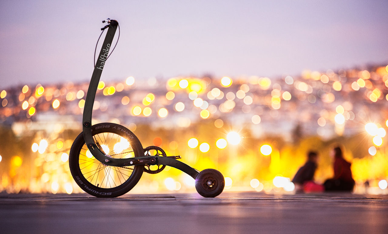 Halfbike The Compact And Light Standing Bike Anywhere With You Pin Trike Wiring Diagram On Pinterest Furthermore Moto Custom France Get Your